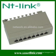8 portas cat5e cat6 rj45 stp patch panel