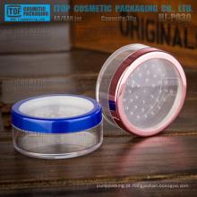 HJ-PQ30 30g atraente boa qualidade dura e suave 1 oz alta claro redondo plástico em pó peneira jar