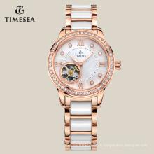 Relógio mecânico do relógio automático superior da categoria com qualidade impermeável 71001