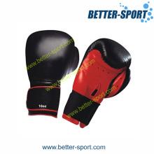 Luva de boxe de couro, luvas de treinamento de boxe da China