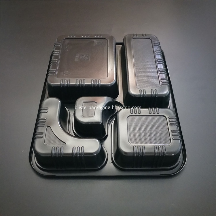 pp black food containers