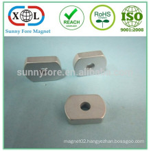 magnet with screw hole