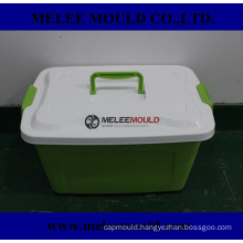 Plastic Portable Box Mould with Lid Handle