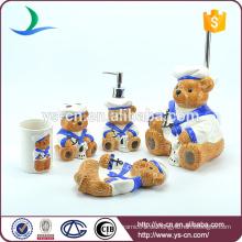 Hochwertiges Tier süßes Design Bad Zubehör mit WC Pinselhalter