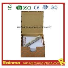 Бумажный блокнот в подарочной коробке