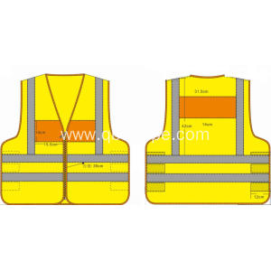 high quality safety vest orange and yellow