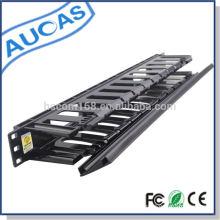 Plástico vertical 1U cable de gestión de precio de fábrica