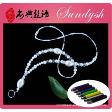 Popular Smoke Ecig Pearl Bead Lanyard With Ring Clip Ecig Lanyard
