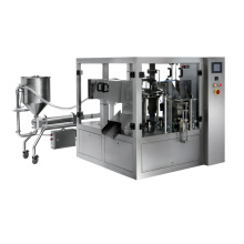 Automatic Rotary Stand up Pouch Plastic Bag Liquid Filling Sealing Machine