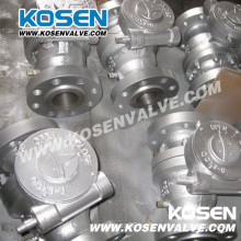 Cast Steel Flanged Trunnion Ball Valves with Gear Box