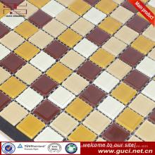 azulejo de mosaico de cristal mezclado al por mayor de China para el diseño de la pared del baño