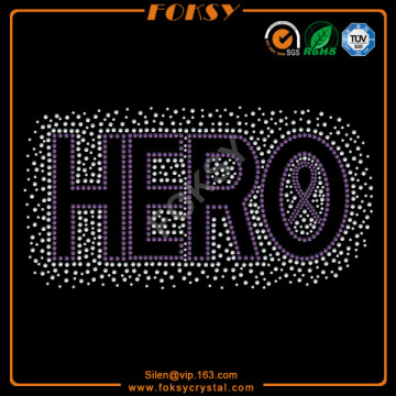 Hero letter wholesale shinning transfers design
