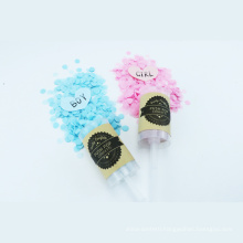 Hot Sale New Product Push Pop with Blue&Pink Confetti for Gender Reveal