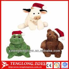 Pequeños y lindos baratos varios animales Navidad juguetes de peluche al por mayor