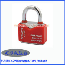 Factory Wholesale Waterproof Plastic Cove Rhombic Type Steel Padlock