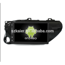 Octa core! Android 8.1 voiture dvd pour Hilux 2012 avec écran capacitif de 10,1 pouces / GPS / lien miroir / DVR / TPMS / OBD2 / WIFI / 4G