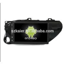 Núcleo Octa! Dvd do carro Android 8.1 para Hilux 2012 com tela capacitiva de 10,1 polegadas / GPS / link espelho / DVR / TPMS / OBD2 / WIFI / 4G