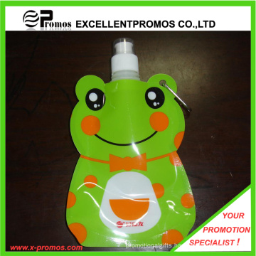Customized Foldable Plastic Water Bottle with Stainless Steel Ring (Ep-B125516)