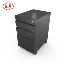 Armário de arquivo moderno de metal móvel de armazenamento de pedestal móvel