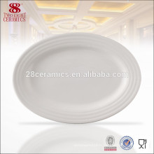 Assiette en porcelaine ovale en porcelaine ovale