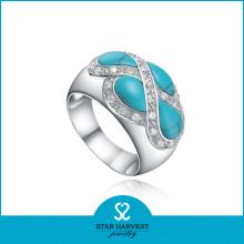 Feines Qualitätskostüm Türkis Ringe