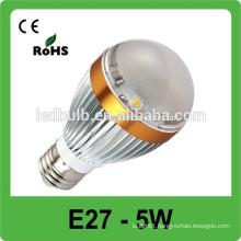 2015 Hot Selling High Lumen CE RoHS Low Price COB E27 5W Led Bulb