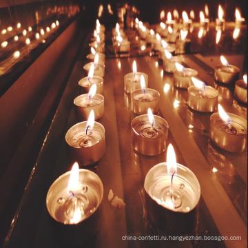 романтическая свеча для украшения обеденного стола