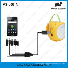 Portable 3.7V/2600mAh Lithium-Ion Solar Battery LED Solar Lamp with Phone Charging