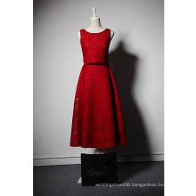 LSQ063 two pieces O-neck natural waist red gowns pictures with partten cocktail dress african prom dress