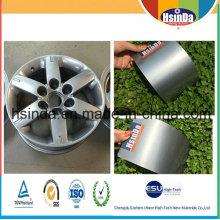 Cubo de rueda decorativo no tóxico Cubo de polvo gris oscuro de la pintura del polvo de la plata