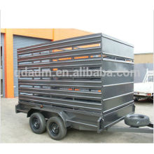 Galvanized livestock animal cattle stock crate