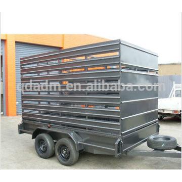 Galvanized livestock animal cattle stock crate