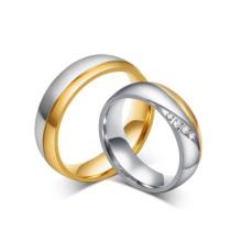 Elegantes anillos indios de oro, conjuntos de anillos nupciales de China