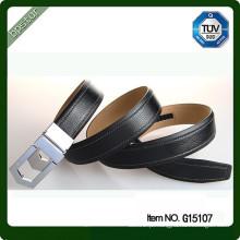 Cinturão de couro da mulher ativa do estilo europeu correias das mulheres pretas deslizou fivelas para calças jeans