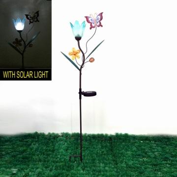 Gartendekoration Metall Solar beleuchtete Schmetterling Stake