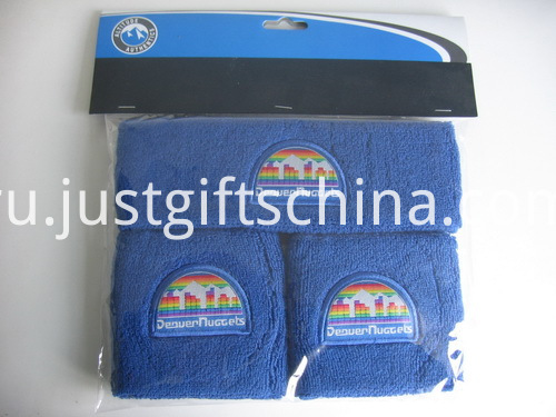 3PCS Promotional Custom Sweatband Set, Full Color Printed Headcard Packing