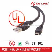 Shenzhen Fábrica Venta al por mayor Mini USB Cable Tipo A Mini USB Mini 5pin Cable de Datos