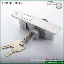 La cerradura con el gancho plano que se desliza la cerradura de puerta de cristal