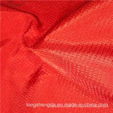 Tejido de sarga de tela plana plana Ver Oxford al aire libre punteado Jacquard 100% tela de poliéster (53213)