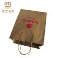 China Wholesale Eco freundliche wiederverwendbare benutzerdefinierte Farbe Shopping tragen braun Kraftpapier Tasche Hersteller