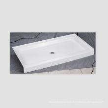 Base de douche à seuil simple antidérapant en acrylique