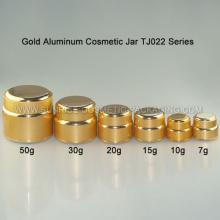 Gold Aluminum Skincare Jar