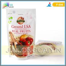 Stehen Sie Reißverschluss-Verpackungs-Beutel für reale Frucht auf