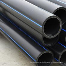 Tubería negra de alta presión del PE del diámetro del plástico corrugado grande