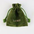 Promotional green velvet gift bag wholesale