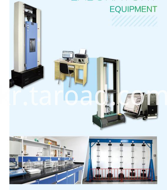 High-strength geonet laboratory equipment