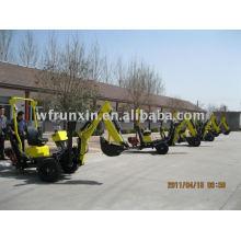 Towable backhoe with diesel/gasline engine