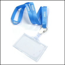 Polyester Vinyl Name/ID Card Badge Reel Holder Custom Lanyard for ID Badge (NLC012)