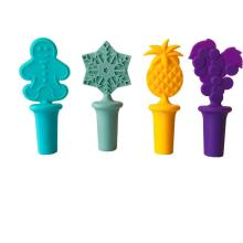 green silicone wine stopper