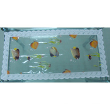 PVC Printed Tablemat with Lace Border (JFCD0228)